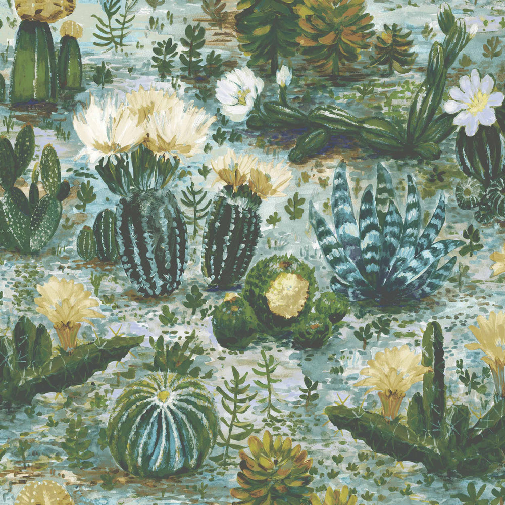 Cacti Pickle Green Wallpaper By Woodchip & Magnolia