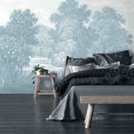Land of Milk & Honey Blue Wallpaper Wall Mural