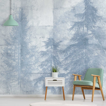 Entwistle Mist Wallpaper Wall Mural by Woodchip & Magnolia