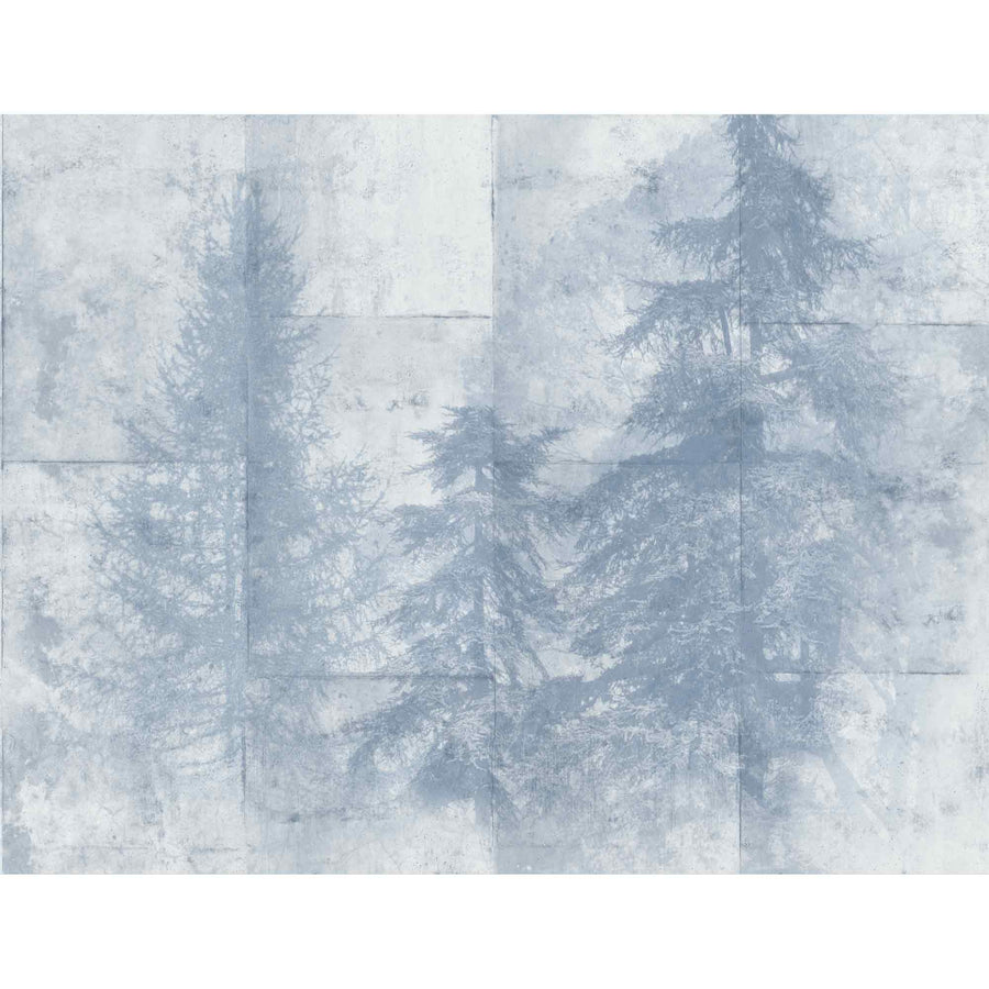 Entwistle Mist Blue Wall Mural