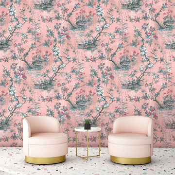 Rivington in Blush Pink Wallpaper By Woodchip & Magnolia