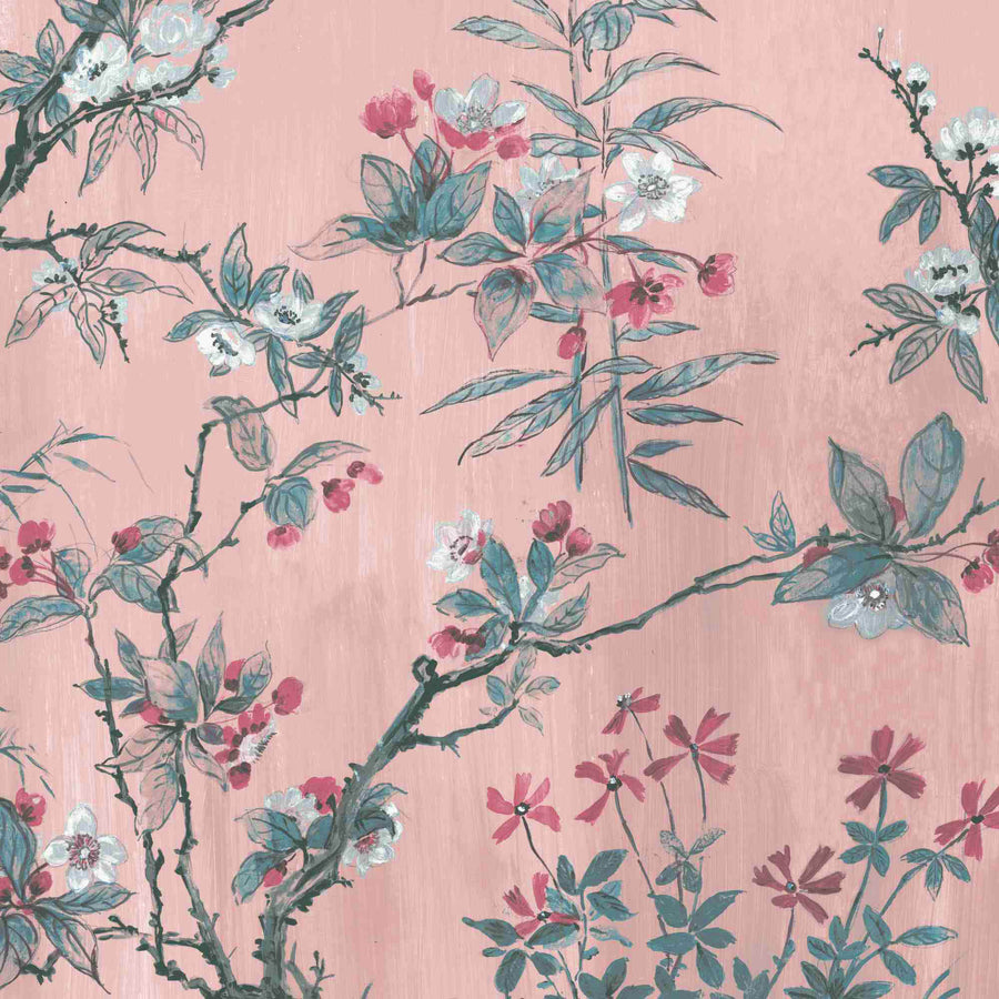 Rivington in Blush Pink Wallpaper