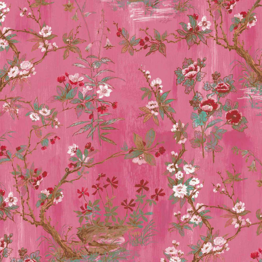 Rivington in Pink Wallpaper