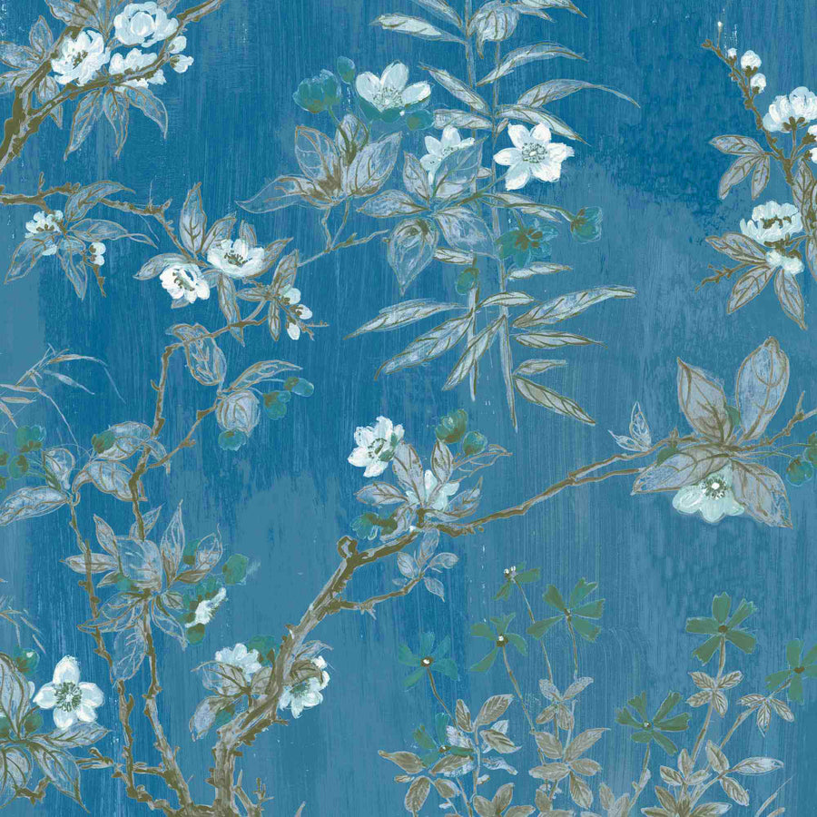 Rivington in China Blue Wallpaper