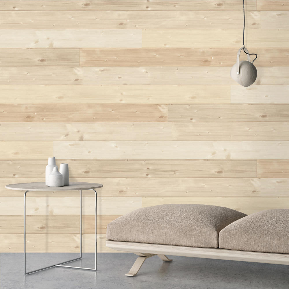Swedish Sauna Wood Plank Wallpaper