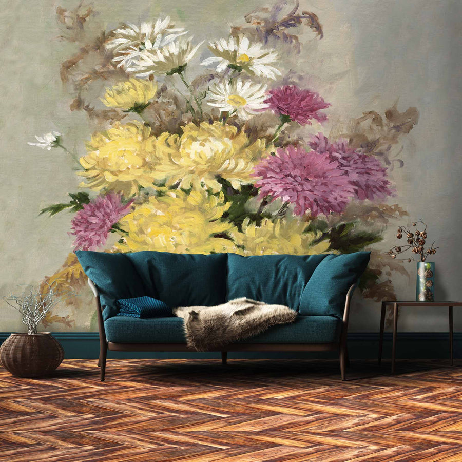 September Chrysanthemum Wall Mural
