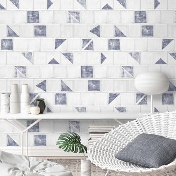 Gio Geometric Tile Wallpaper by Wallpaper
