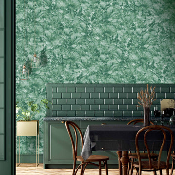Marble Pine Green Wallpaper