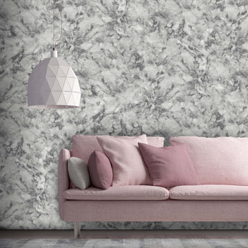 Marble Dove Grey Wallpaper