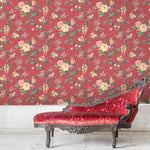 Dawn Chorus in Rouge Red Wallpaper