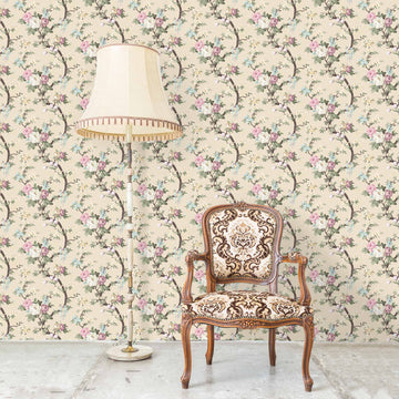 Ditsy Floral in Linen Wallpaper By Woodchip & Magnolia
