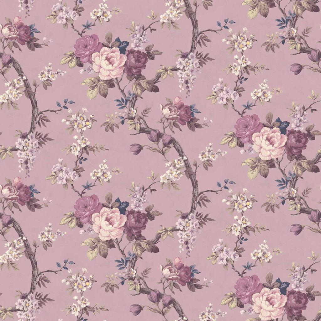 Ditsy Floral in Smokey Heather Wallpaper By Woodchip & Magnolia
