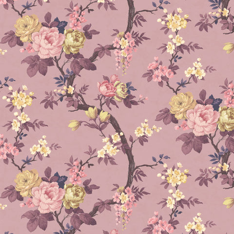 Ditsy Floral in Damson Wallpaper By Woodchip & Magnolia
