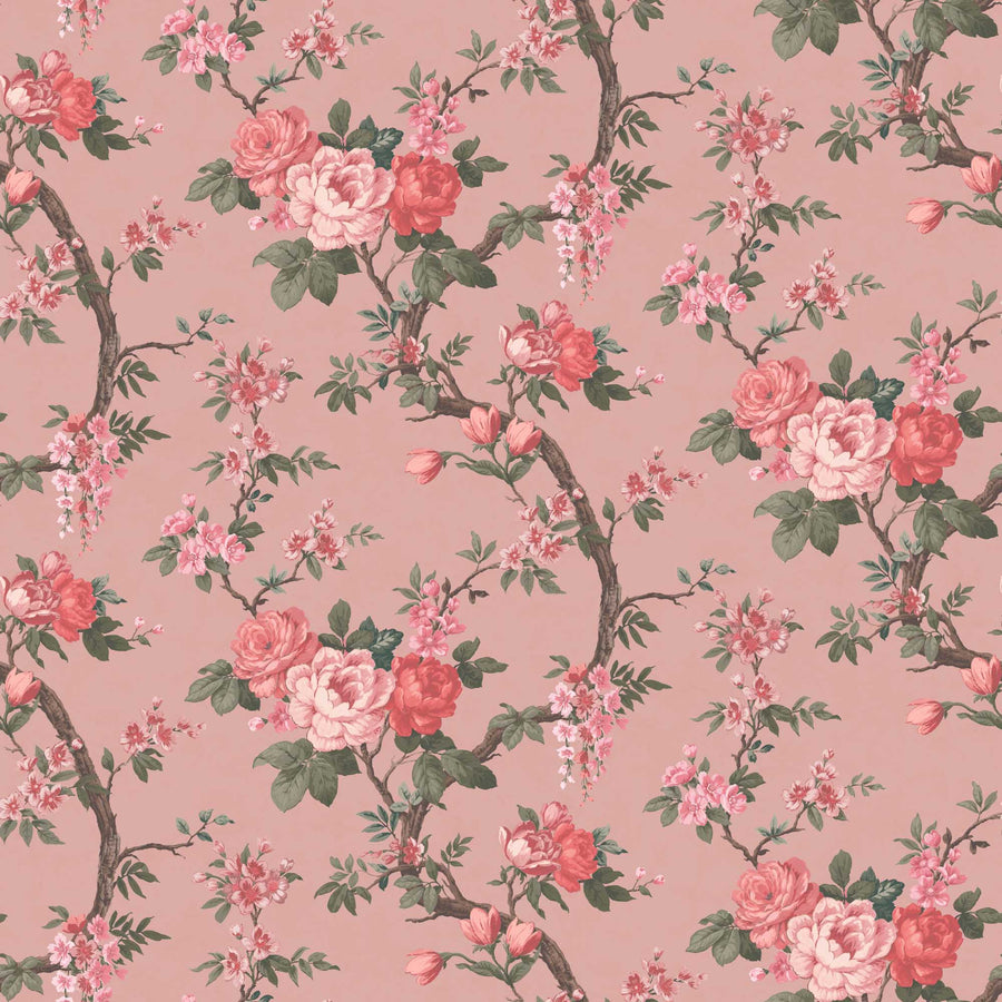 Ditsy Floral in Old Rose Wallpaper By Woodchip & Magnolia