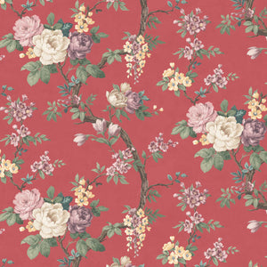Ditsy Floral in Rouge Red Wallpaper By Woodchip & Magnolia