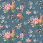 Ditsy Floral in Ink Blue Wallpaper