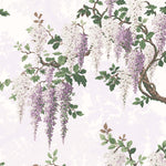 Wisteria in Lilac Floral Wallpaper