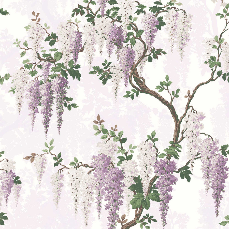 Wisteria in Lilac Floral Wallpaper By Woodchip & Magnolia
