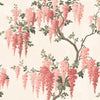 Wisteria in Coral Floral Wallpaper By Woodchip & Magnolia