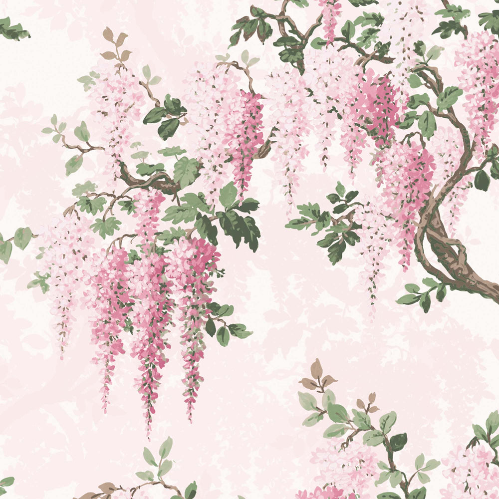 Wisteria in Pretty in Pink Floral Wallpaper By Woodchip & Magnolia