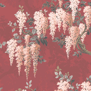 Wisteria in Bourdoir Red Velvet By Woodchip & Magnolia