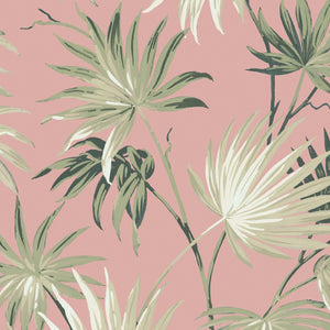 Va Va Frome Powder Pink Leaf Wallpaper By Woodchip & Magnolia