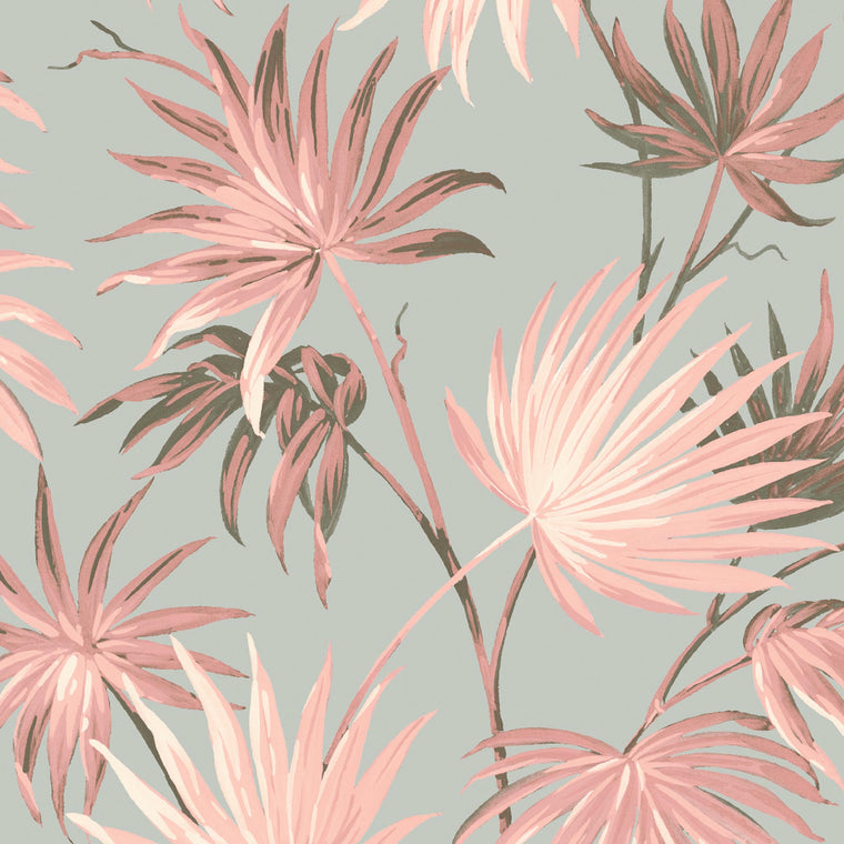 Va Va Frome Blush Eau De Nil Leaf Wallpaper