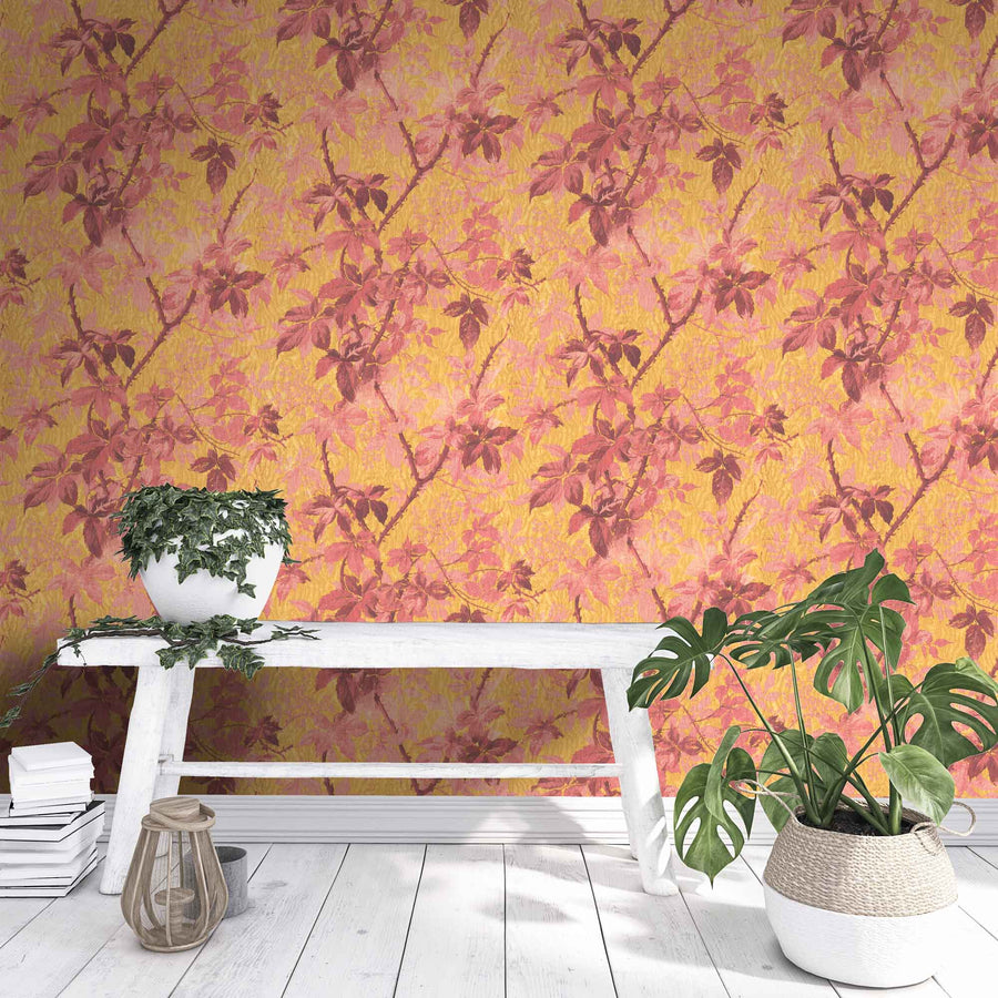 Tropic Sunset Orange Wallpaper
