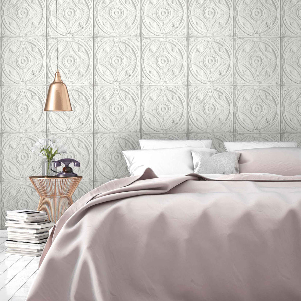 Circular Tin Tile Wallpaper by Woodchip & Magnolia