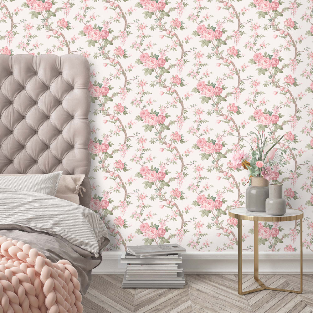 Ditsy Floral in Rose Pink Wallpaper by Woodchip & Magnolia