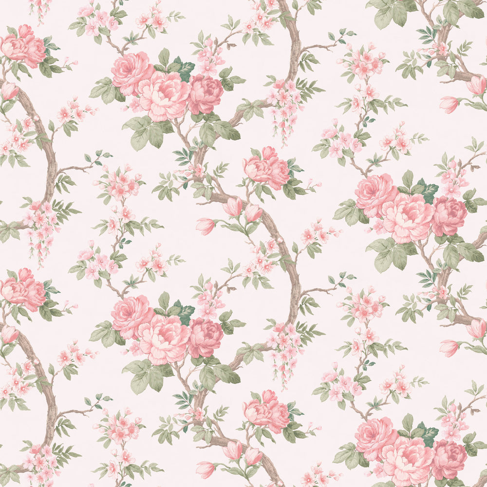 Ditsy Floral in Rose Pink Wallpaper