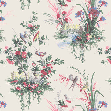 Magical Garden in Linen Wallpaper