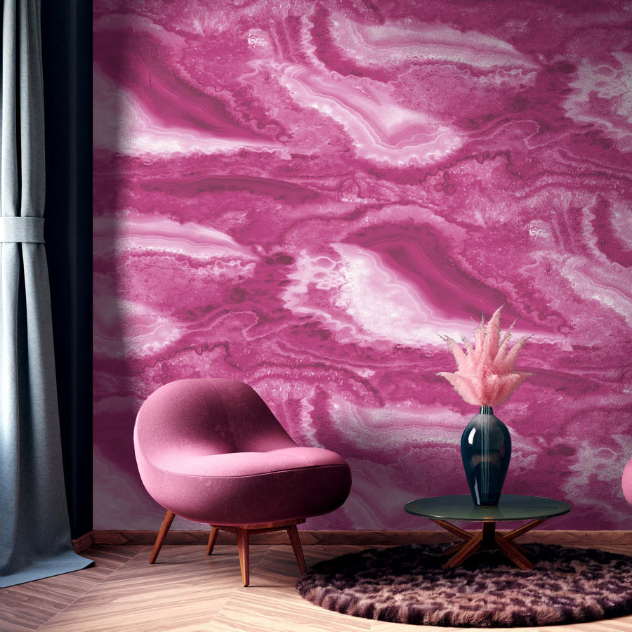 Pink Agate Wall Mural By Woodchip & Magnolia
