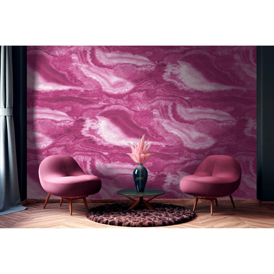 Imagate Hot Pink Wall Mural