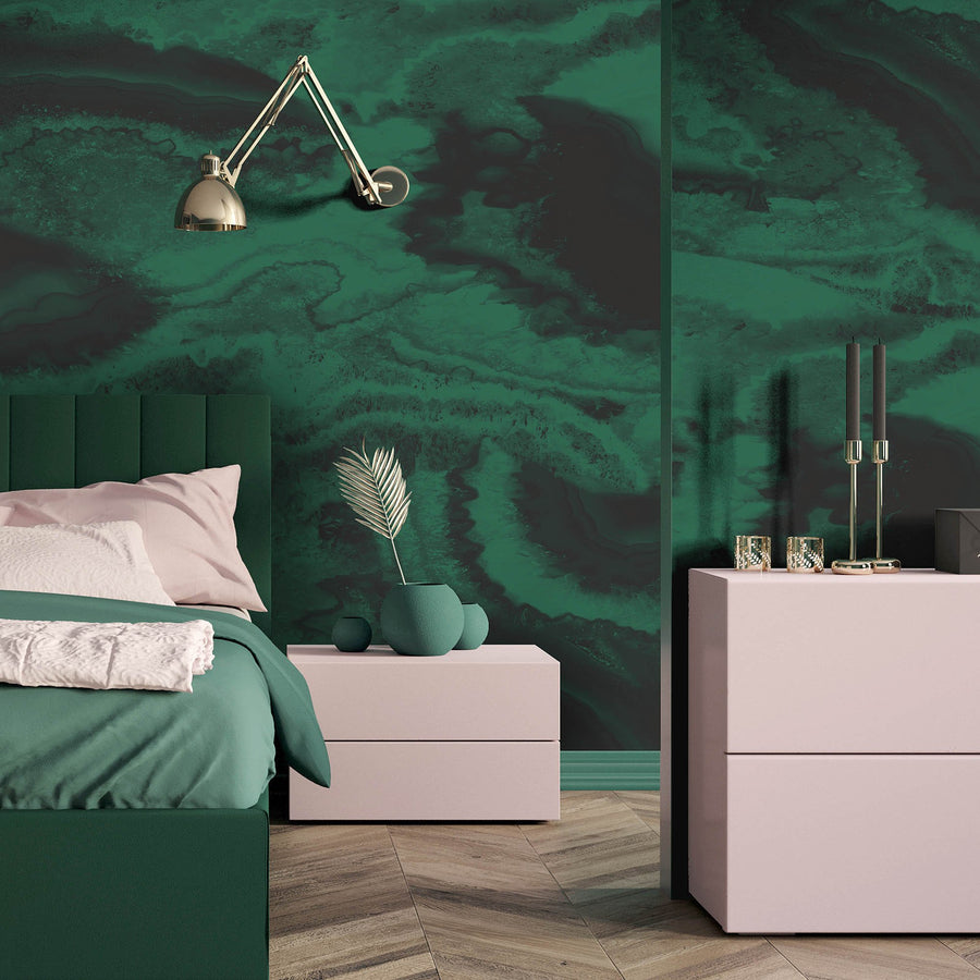 Imagate Agate Green Wall Mural By Woodchip & Magnolia