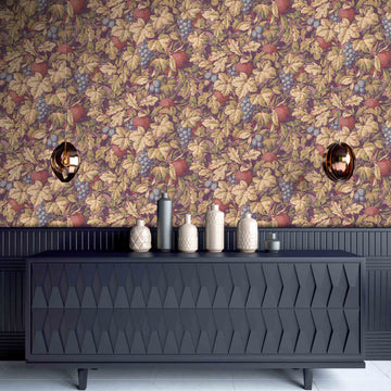 Turton in Burnt Ochre Wallpaper