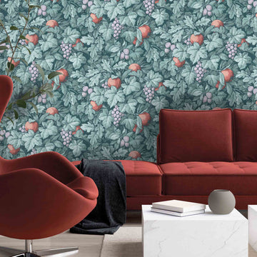 Turton in Peacock Wallpaper