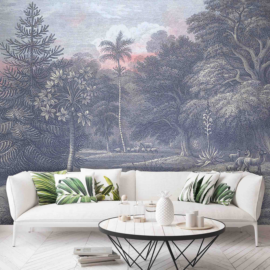 Sunrise Wall Mural Inky Dawn