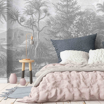 Sunrise Mono Jungle Wall Mural