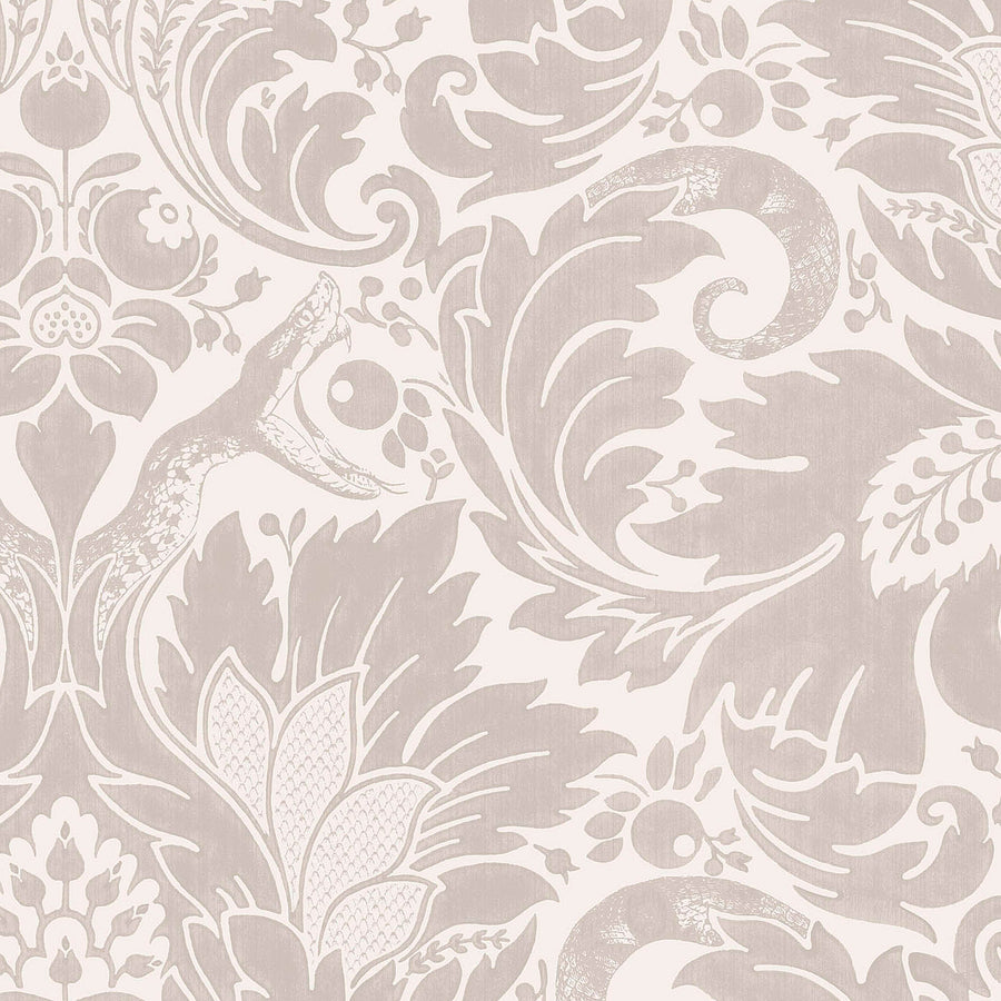 Fearless Stone Damask Wallpaper