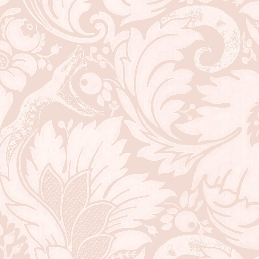 Fearless Blush Pink Damask Wallpaper