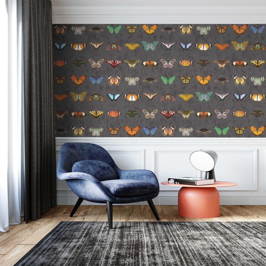 Butterfly Wallpaper  - Insect Wallpaper For Walls - Woodchip & Magnolia