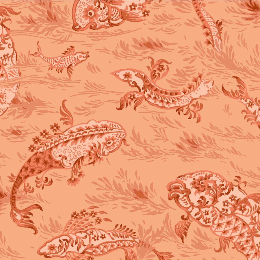 Magical Lagoon Spiced Terracotta Wallpaper