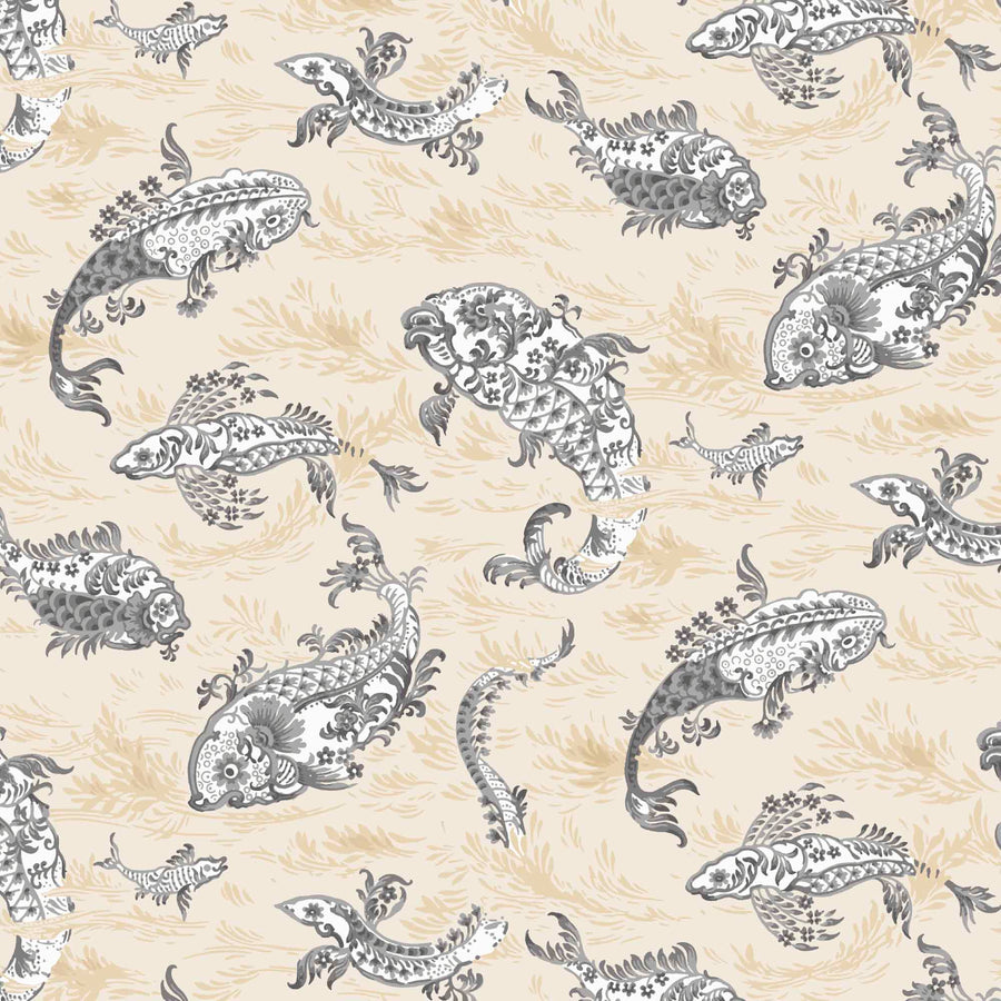 Magical Lagoon Ivory Wallpaper