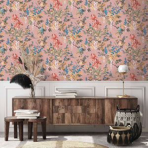 Heista Salmon Pink Wallpaper By Woodchip & Magnolia