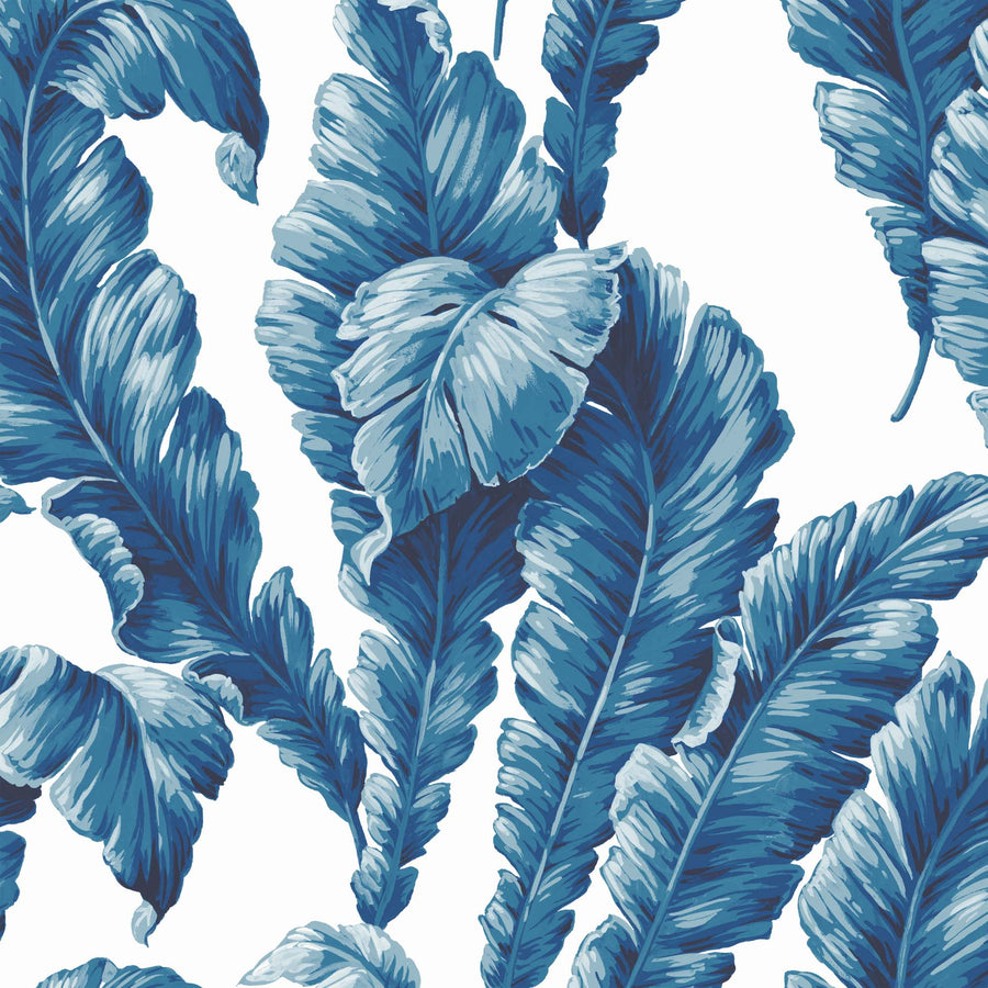 Banana Leaf Ink Blue Wallpaper By Woodchip & Magnolia