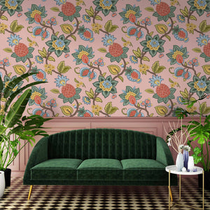 Doris Plaster Pink Wallpaper By Woodchip & Magnolia
