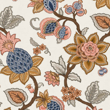 Doris Jacobean Turmeric Wallpaper