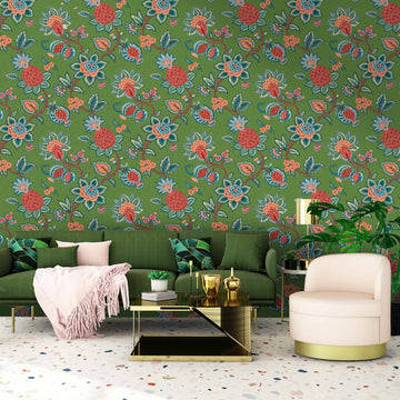 Doris Jacobean Fern Floral Wallpaper By Woodchip & Magnolia