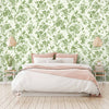 Plumage Green on Green Botanical Bird Wallpaper By Woodchip & Magnolia